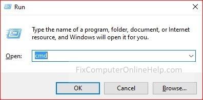 windows + r button - run box pop up command