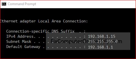 cmd command prompt - ipconfig