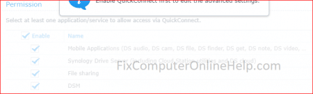 synology quickconnect permission